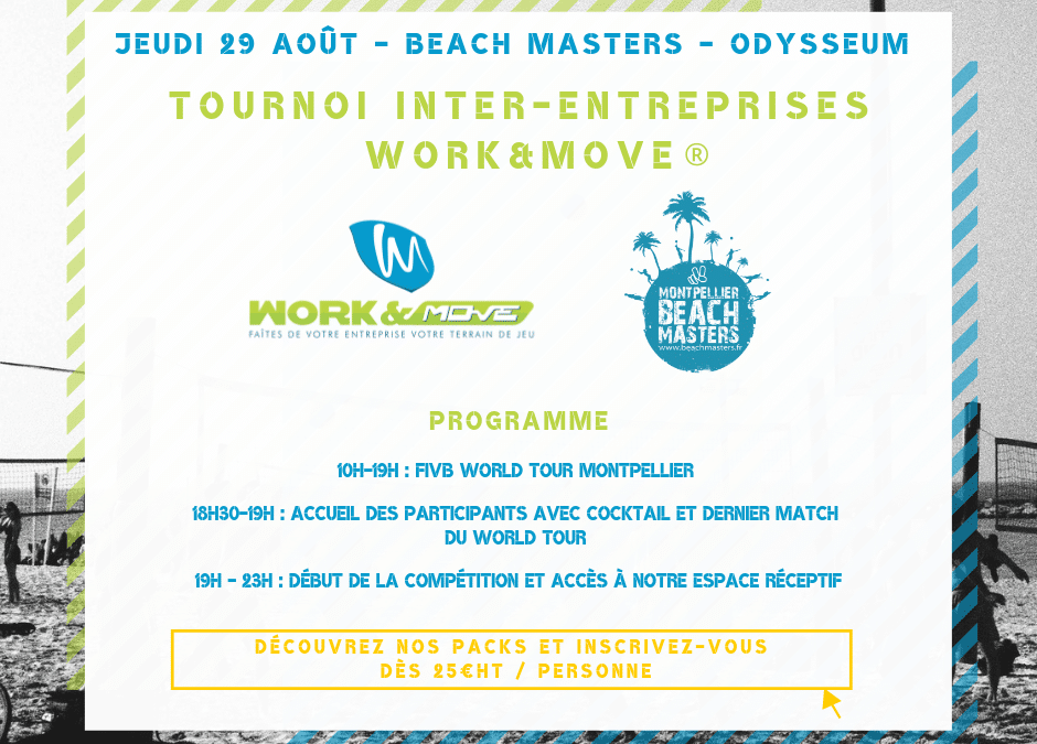 Tournoi WORK&MOVE® Beach Masters 2019